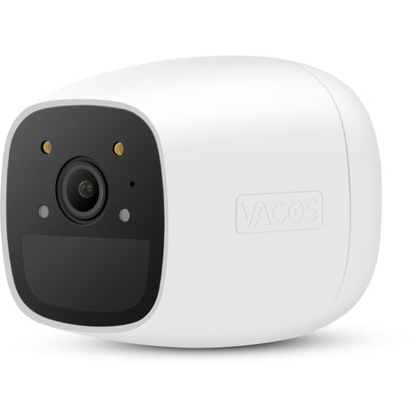 Vacos Cam Full Color Night Vision Outdoor Rechargeable Battery Powered 1080p Wireless Security Camera with AI PIR Detection 16 GB Local Cloud Storage Alexa