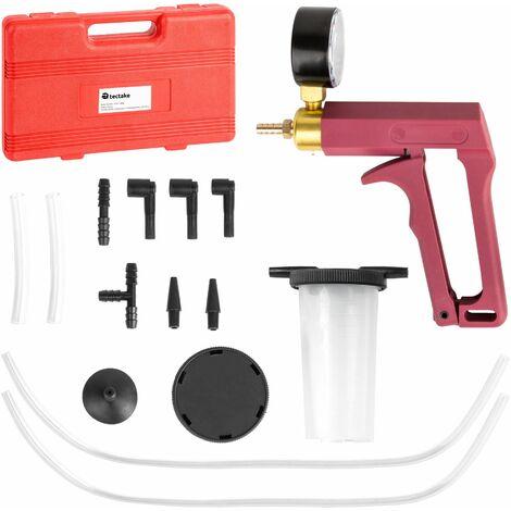Vacuum guage - vacuum tester, vacuum leak test, vacuum pressure guage - black/red