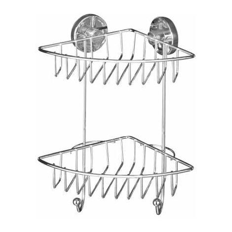 Vacuum-Loc® 2-tier corner rack Bari WENKO