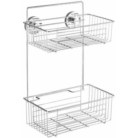 Vacuum-Loc® 2-Tier wall rack Bari WENKO