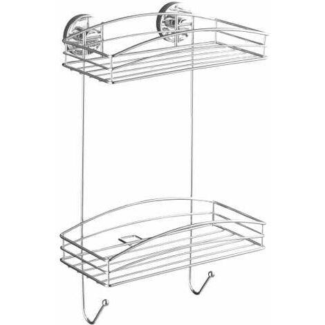 Vacuum-Loc® 2-Tier wall rack WENKO