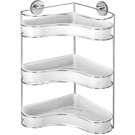 Vacuum-Loc® 3-Tier corner rack Milazzo WENKO
