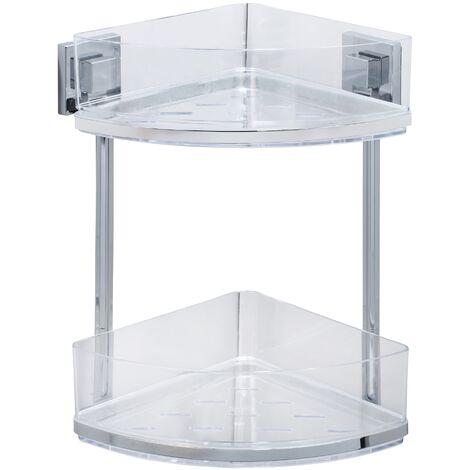 Vacuum-Loc® étagère d'angle en acier inox Quadro 2 niveaux