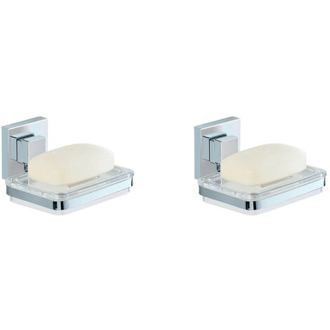 Vacuum-Loc® porte-savon en acier inox Quadro
