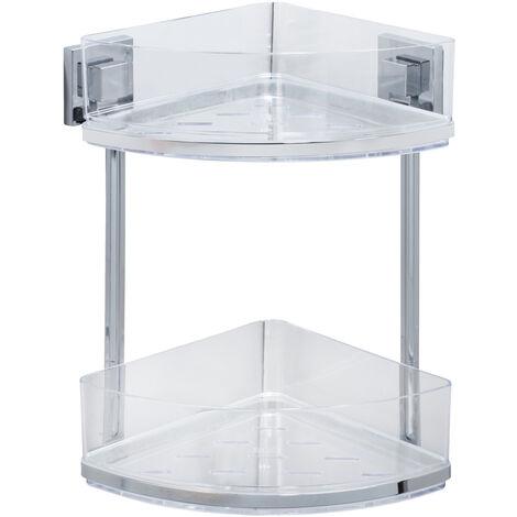Vacuum-Loc® rinconera doble de acero fino con 2 repisas Quadro WENKO