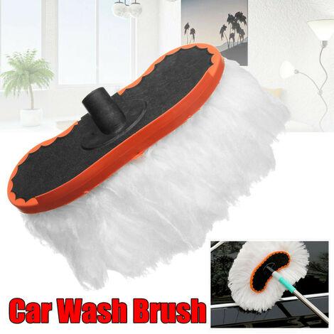 Vadrouille télescopique de voiture réglable brosse à épousseter propre essuyage doux lait soie vadrouille voiture carrosserie lavage de vitre brosse de nettoyage outils
