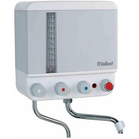 VAILLANT Kochendwassergerät, 5l, 2,4kW, Kunststoff, 30-100°C, integrierte Armatur, mit Fortkochstufe, weiß, verchromt, mit akustischem Kochsignal