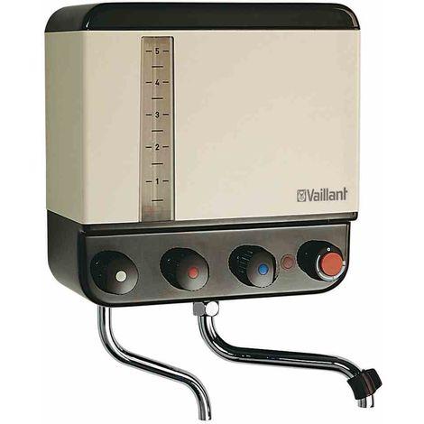 VAILLANT Kochendwassergerät, 5l, 2kW, Kunststoff, 30-100°C, integrierte Armatur, mit Fortkochstufe, beige, verchromt, mit akustischem Kochsignal