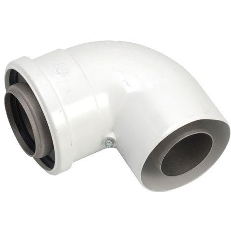 Vaillant VTK 90 Degree Plume Elbow (White)