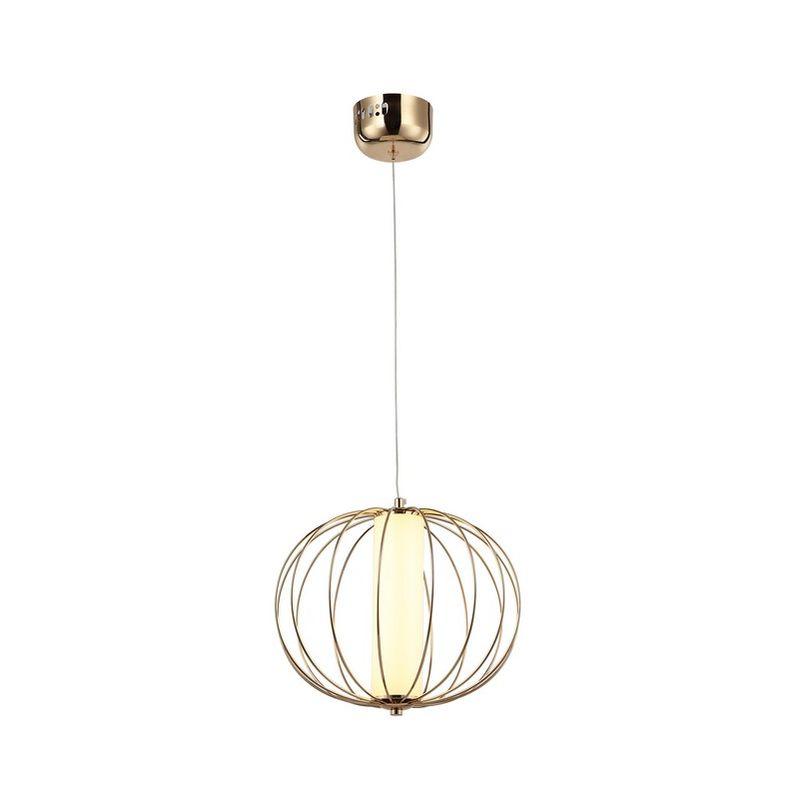Homemania - Valanda Haengelampe - Kronleuchter - Deckenkronleuchter - Gold aus Metall, Acryl, 29 x 29 x 106 cm, 1 x LED, 15W, 3000K, 1050lm