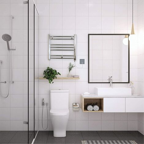 Valdern Romano Small 150W Electric Chrome Heated Towel Radiator Rail
