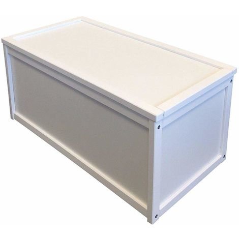 Valdern White Wooden Toy Box / Chest Box Storage Unit for Kids Children and Personalised Gifts
