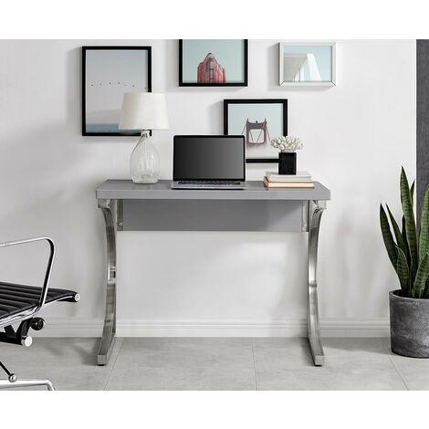 "main image of ""Valencia Grey High Gloss Modern Office Desk Small"""