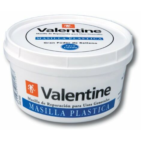 VALENTINE 0 MASTIC PLASTIQUE PLÂTRE BLANC 500 ML