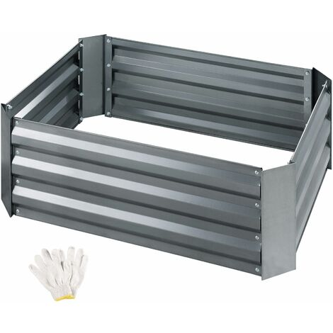 Valeriana Zinc-Plated Raised Bed - grey