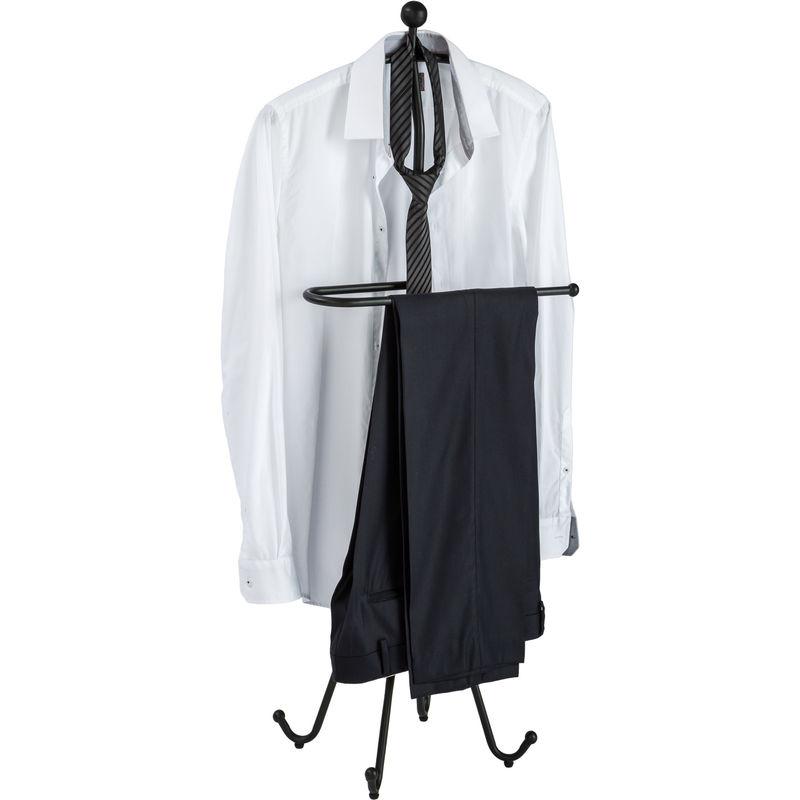 Valet de Chambre Design Porte Vêtement en Métal Laqué Époxy 50 cm x 30 cm x  108 cm Noir