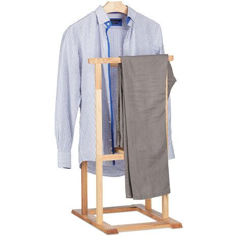 Valet de chambre en bois de noyer porte-vêtements sur pied pantalon ...
