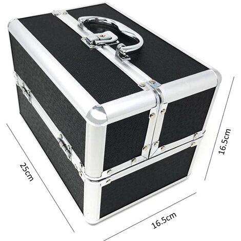 """main image of """"Valigetta 4 Cassetti Porta Cosmetici Trucco Make Up Bauletto Beauty Case Nero"""""""