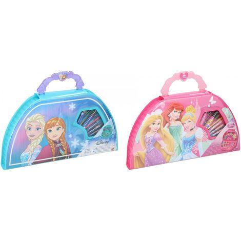 Valigetta 50 Pennarelli Pastelli Colori Per Disegno Disney Frozen Principesse
