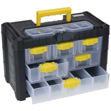 Cassettiere In Plastica Per Minuterie.Valigetta Cassetta Porta Minuteria Per Hobby E Fai Da Te 6 Cassetti 13 Scomparti