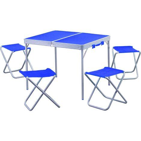Tavolini Da Campeggio Pieghevoli Con Sedie.Valigetta Pic Nic Tavolo Pieghevole A Valigetta Con Sedie Per