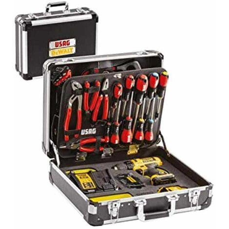 Valigia U00021710W Usag & Dewalt utensili con assortimento + Trapano DCD710N