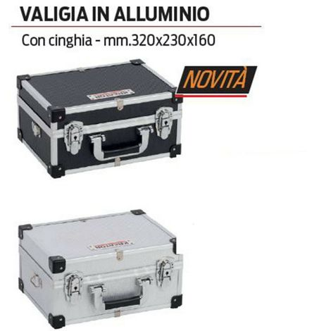 VALIGIA VALIGETTA ALLUMINIO PORTATTREZZI PORTA UTENSILI 560X173X265 INTERNO REMO