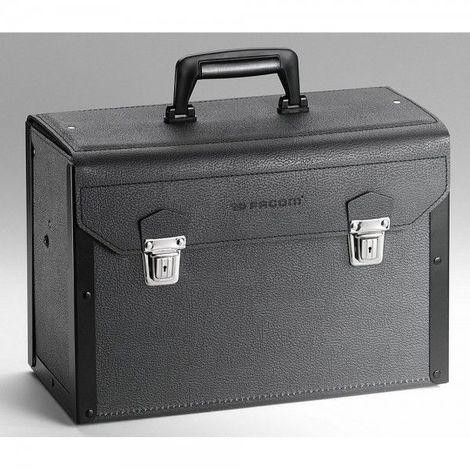 Valise cuir à tiroirs