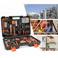 Valise de Bricolage, Malette à Outils, 114 outils, Avec une mallette noire, Matériau: Acier, Plastique