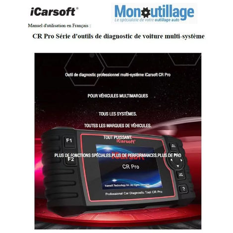Valise diagnostic OBD2 multi-marques mondiale iCarsoft CR Pro Officiel