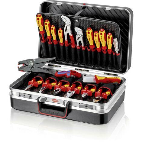 Valise doutillage équipée Knipex 00 21 20 pour électricien 20 pièces (l x h x p) 480 x 175 x 370 mm 1 set