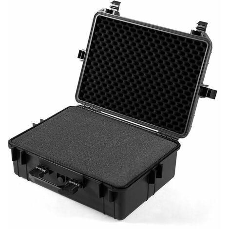 """main image of """"Valise étanche pour appareil photo+4 inserts en mousse - 1 pour diy 57 cm avec poignée ergonomique noir - Noir"""""""
