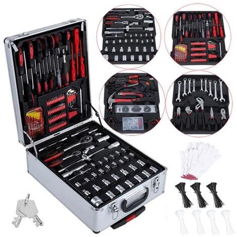 Valise outils et accessoires Malette en aluminium avec roulettes 899 pièces HobbyTech