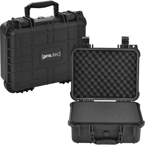 Valise pour appareil photo coffre pour armes coffre pour équipement photo Protection IP55 35 x 29,5 x 15 cm Polypropiléne et Polyuréthane Noir