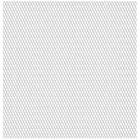 Valla alambrada de jardín acero inoxidable 50x50 cm 45x20x4 mm - Plateado