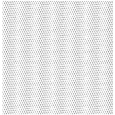Valla alambrada de jardín acero inoxidble 50x50cm 20x10x2 mm - Plateado