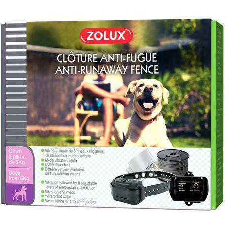 Valla antifugas para perros. Cuello ajustable: cuello de 55 cm como máximo.