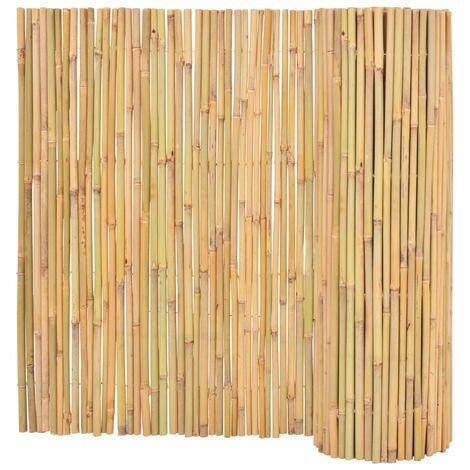 Valla cañizo de jardín de bambú 300x100 cm