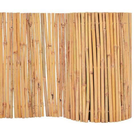 Valla cañizo de jardín de bambú 500x30 m