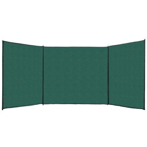 Valla cortavientos de HDPE verde 150x450 cm