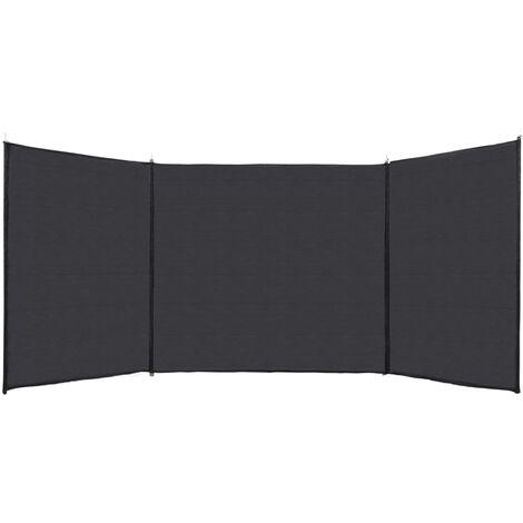 Valla cortavientos HDPE antracita 150x450 cm