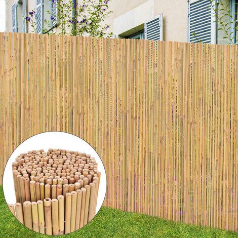 Valla de bambu 300x125 cm