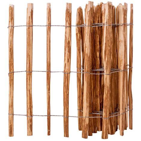 Valla de estacas de madera de avellano 90x500 cm