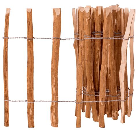 Valla de estacas madera de avellano 60x500 cm