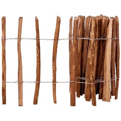 Valla de estacas madera de avellano impregnada 60x500 cm