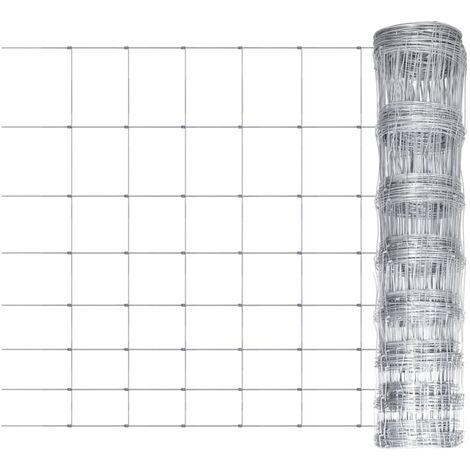 Valla de jardín de acero galvanizado 50 m 100 cm