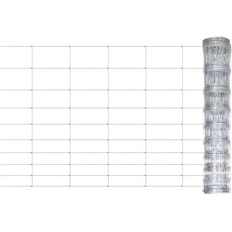 Valla de jardín de acero galvanizado 50 m 120 cm