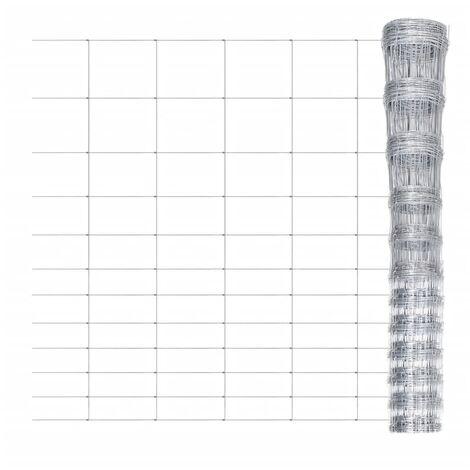 Valla de jardín de acero galvanizado 50 m 150 cm