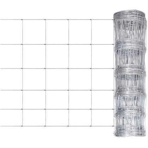 Valla de jardín de acero galvanizado 50 m 80 cm