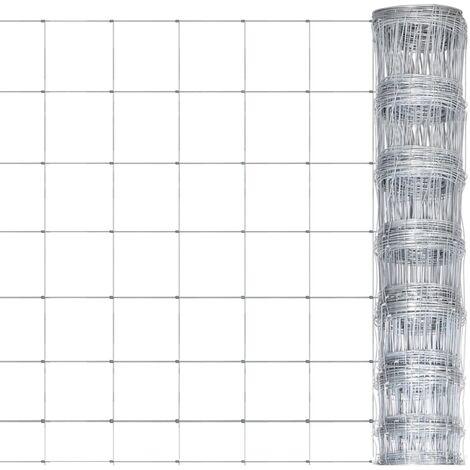 Valla de jardín de acero galvanizado plateado 50x1 m - Plateado